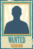 Wanted Retro Poster — Stock Vector
