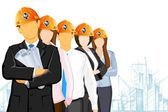 équipe de l'architecte — Vecteur