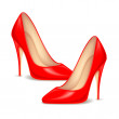 High Heel Shoes for female — Stock Vector