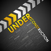 Under Construction Background — Vettoriale Stock