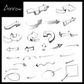 Hand Drawn Arrow — Stock vektor