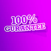 100 percent Gurantee Sticker — Vetorial Stock