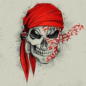 Fondo de cráneo — Vector de stock