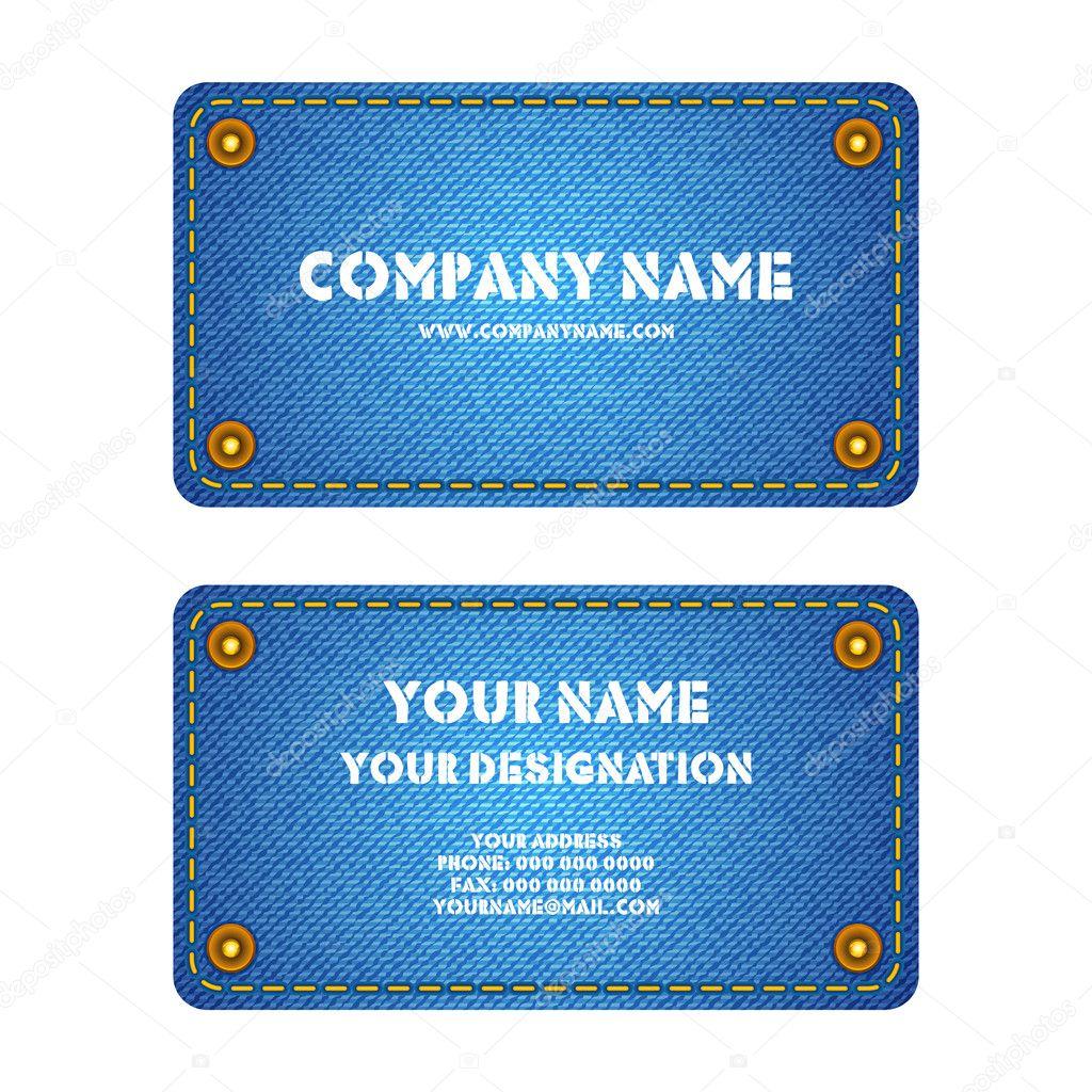 Denim Business Card — Stock Vector © vectomart