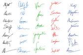 Snímky podpis — Stock vektor
