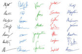 画像の署名 — ストックベクタ