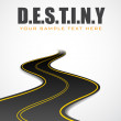 Road in Destiny Background — Stock Vector