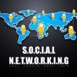 Social Networking Background — Stockvectorbeeld