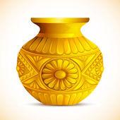 Golden Mangal Kalash — Stock Vector