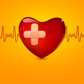 Wounded Heart — Stock Vector