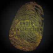 Under Construction Finger Print — Stock Vector
