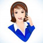 Lady talking on headphone — Stock Vector #10583045