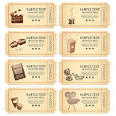 Vintage Movie Ticket — Vector de stock