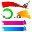 Paint Brush Stroke - Stock Vector