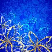 汚れた花 — ストックベクタ