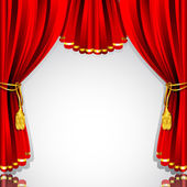 Stage Curtain — Stock Vector