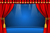 Stage with Curtain — Stock Vector