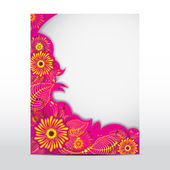 Floral Card — Vetorial Stock