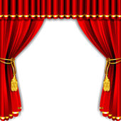 Stage Curtain — Vector de stock