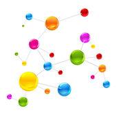 Colorful Molecule — Stock Vector