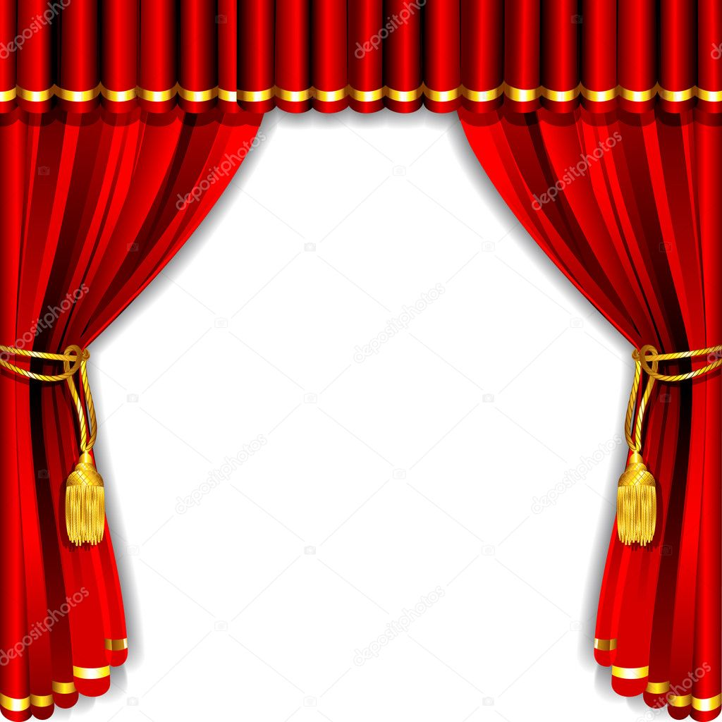 Stage curtain stock vector 169 vectomart 10648096