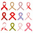Aids Awarness Ribbon - Vettoriali Stock