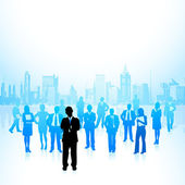 Corporate Crowd — Stock Vector