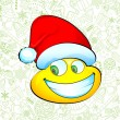 Smiley with Santa Hat - Stock Vector