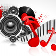 Musical Background - Image vectorielle