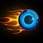 Fiery Eye — Stock Vector #8102179