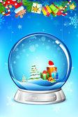 Noel hediyesi olarak cam ball — Stok Vektör