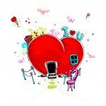 Love Doodle — Stock Vector #8309241