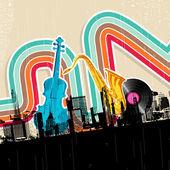 Urban Music — Stock Vector