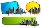 архитектурные баннер — Cтоковый вектор