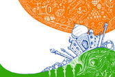 Taj Mahal on Tricolor — Stock Vector