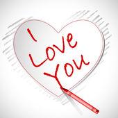 Love you Card — Stock Vector