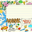 Thank You Doodle — Stock Vector