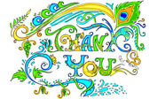 Colorful Thank You Card — Stock Vector