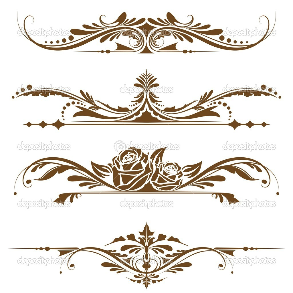 Illustration of set of vintage Vintage Border Vector