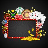 Casino van achtergrond — Stockvector