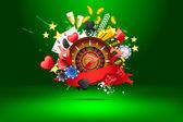 Casino grunge — Vector de stock