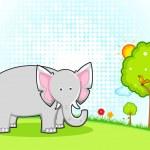 Большой слон — Cтоковый вектор