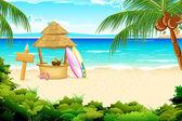 Playa tranquila — Vector de stock