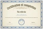 Certificate of Completion — Vettoriale Stock