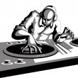 Stock Vector: Disco Jockey