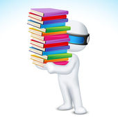 3d Man with Book in Vector — Stock Vector