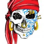 Decorated Skull — Stock Vector