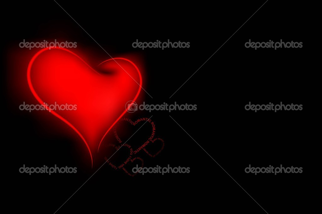 Illustration of love heart on valentine background  Stock Vector #8783055