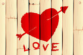 Wooden Love Background — Stock Vector