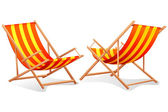 Beach Chair — Stock Vector